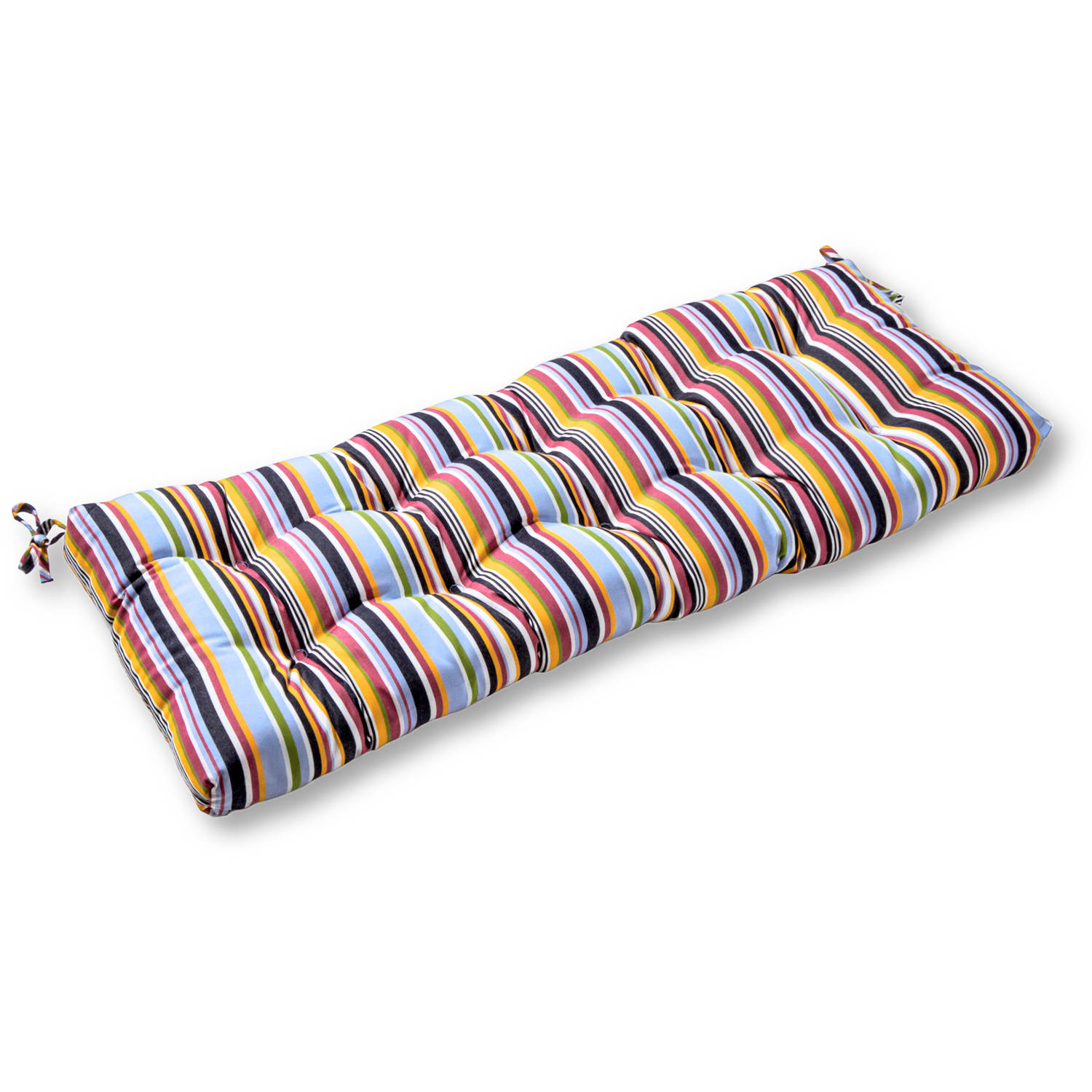 "Greendale Home Fashions 46"" Outdoor Swing/Bench Cushion, Sunbrella Fabric, Malibu Stripe"