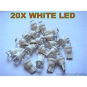 SmallAutoParts White T10 Led Bulbs - Set Of 20