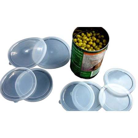 Large, Medium, and Small Plastic Can Cover for Cat and Dog Food, 6 (Plastic Lids For Cans Of Dog Food)