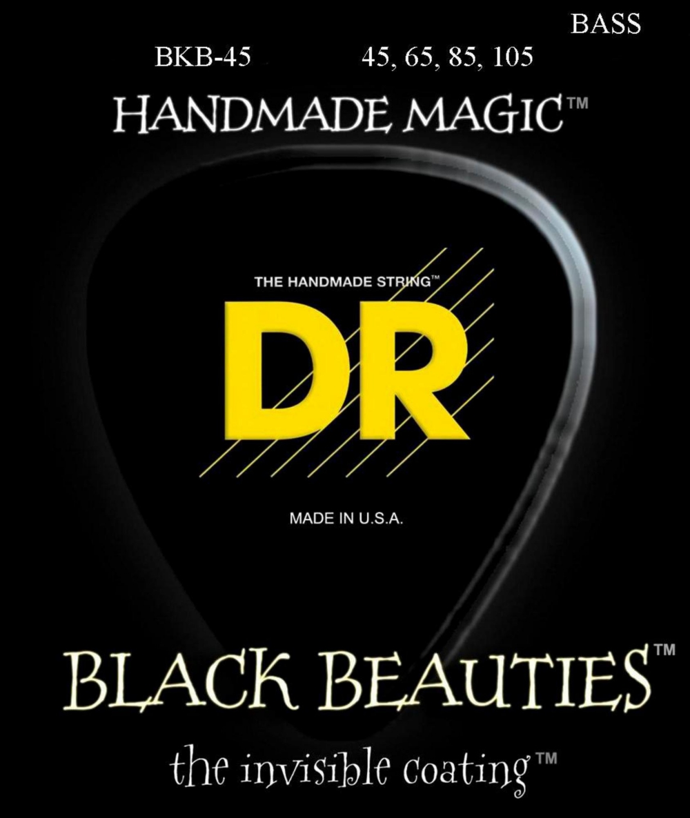 DR Strings Black Beauties Medium 4-String Bass Strings by DR Strings