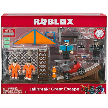 Roblox Mix & Match Jailbreak: Great Escape Figure 4-Pack Set