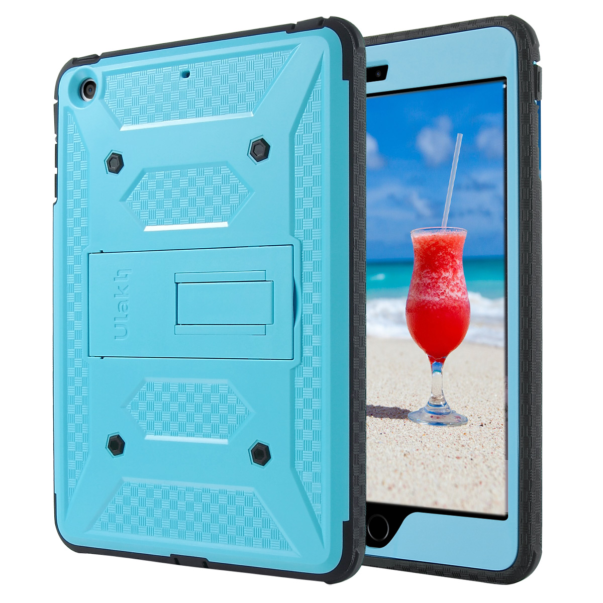 iPad mini 3 / iPad mini 2 / iPad mini Case, ULAK Hybrid Full Body Protective Case with Built-in KickStand for Apple iPad Mini 1/2/3 with Built-in Screen Protector