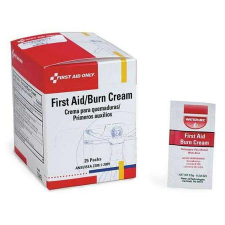 FIRST AID ONLY G343GR Burn Cream,0.9g,25/Box G2276167