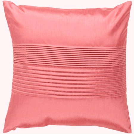 Light Pink Ruffle Throw Pillow : 18