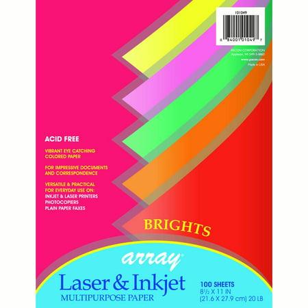 Array® Multi-Purpose Paper, Bright Colors - 100 Sheets per pack, 3 packs 100 Sheet Multi Purpose Tray