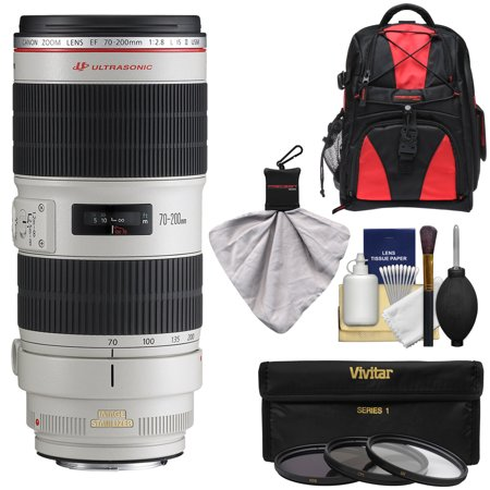 Canon Ef 70 200Mm F 2 8 L Is Ii Usm Zoom Lens With Backpack   3 Filters   Kit For Eos 6D  70D  7D  5Ds  5D Mark Ii Iii  Rebel T5  T5i  T6i  T6s