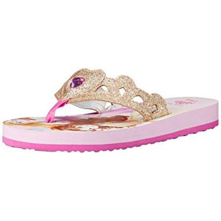 Stride Rite Toddler/Little Kid Disney Multi Princess EVA Sandal, White/Pink