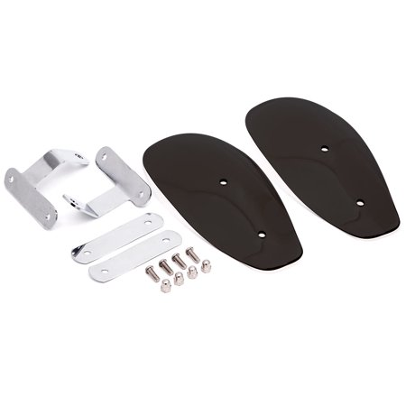 Krator Smoke Hand Guards Deflectors Wind Protector Winter for Suzuki Boulevard S40 S50 S83 - image 3 of 5