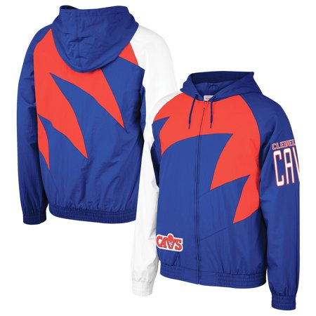 Cleveland Cavaliers Mitchell & Ness Shark Tooth Jacket - Blue (Mitchell And Ness Jacket)