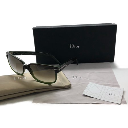 Christian Dior Fashion Sunglasses - Christian Dior Black Tie 111s Mjijs Plum Green 55 Sunglasses