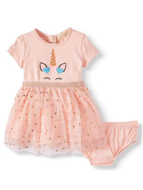 Btween Unicorn Bow-Back Tutu Dress (Baby Girls)
