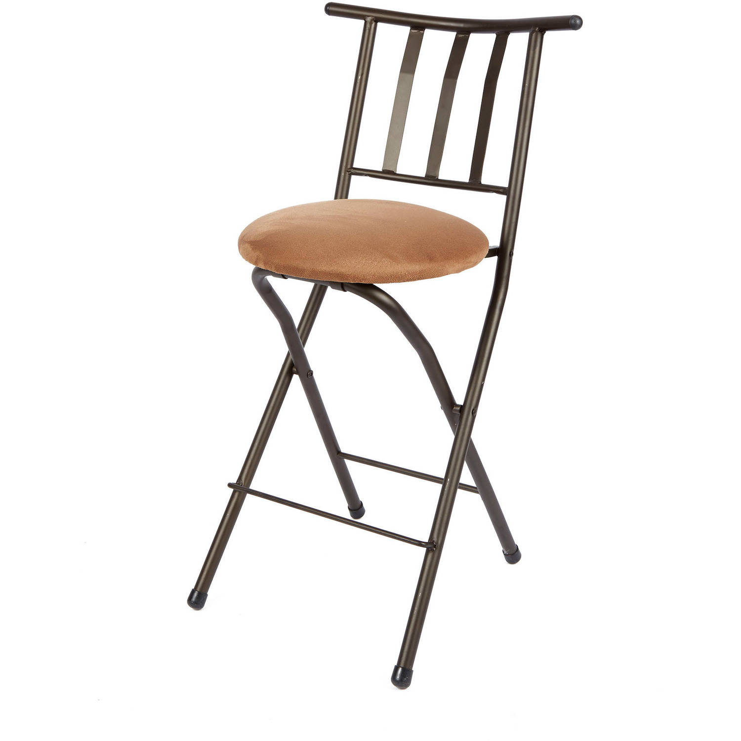 "Mainstays 24"" Slat-Back Counter Height Barstool, Beige"