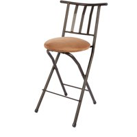 "Mainstays 35"" Slat Back Counter Height Bar Stool, Beige"