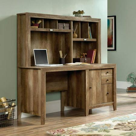 Sauder Dakota Pass Computer Desk with Hutch, Craftsman Oak Finish
