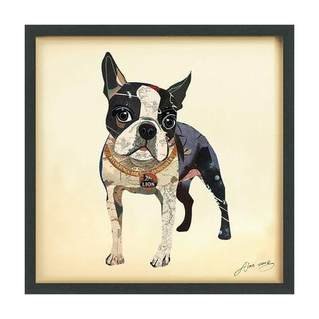 Empire Art Direct Empire Art \'Boston Terrier\' Hand Made Signed Art ...