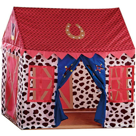 VCNY Home Big Believers Yeehaw Multi-Colored Cowboy Inspired Pop-Up Kids Play Tent