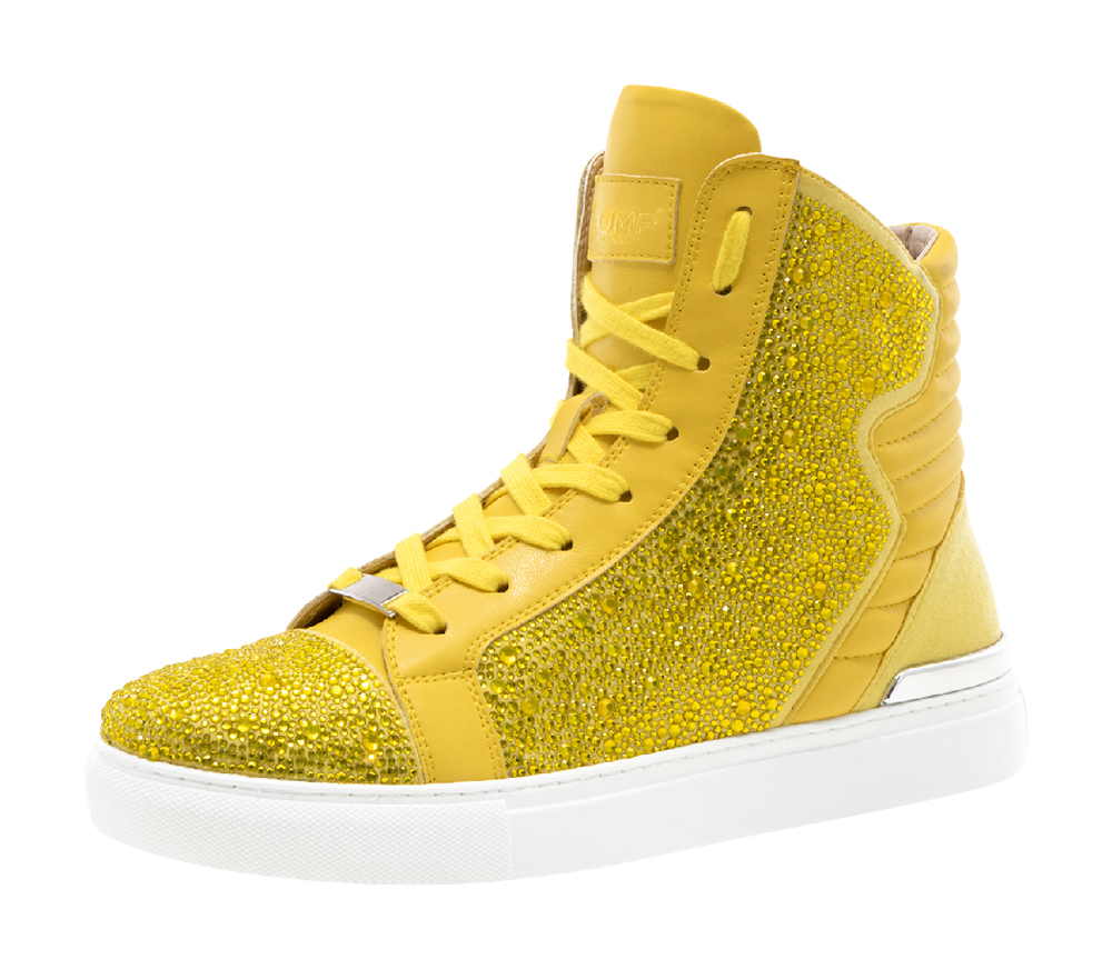 puffy high top sneakers