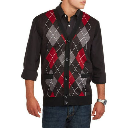 Ten West Mens Cardigan Pocket Argyle Sweater Vest Walmartcom