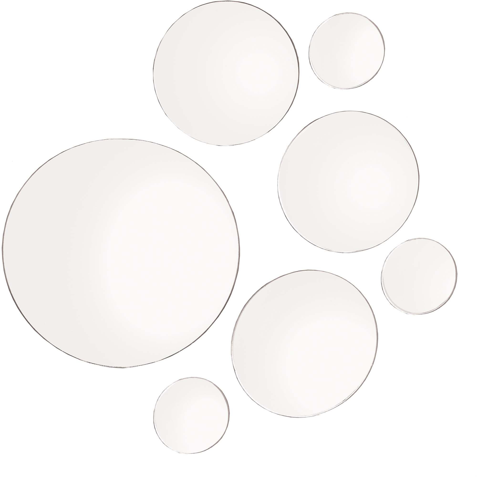 Elements Round Mirrors, Set of 7, 9\ by Lifetime Brands