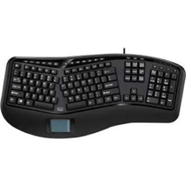 Tru-Form Ergonomic Usb Touchpad Keyboard, With Split Key Zones And Gentl