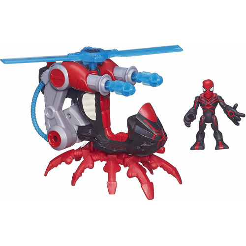 Playskool Heroes Marvel Super Hero Adventures Arachno-Blade Vehicle with Big-Time Spider-Man Figure