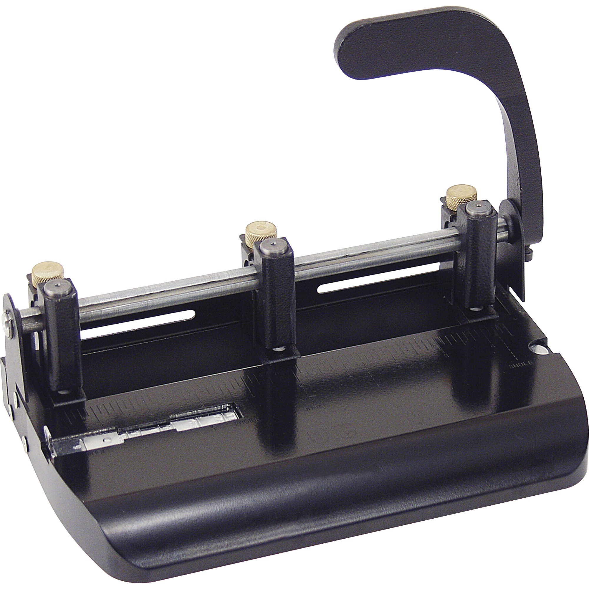Officemate OIC Heavy Duty Adjustable 2-3 Hole Punch with Lever Handle, Black (90078)
