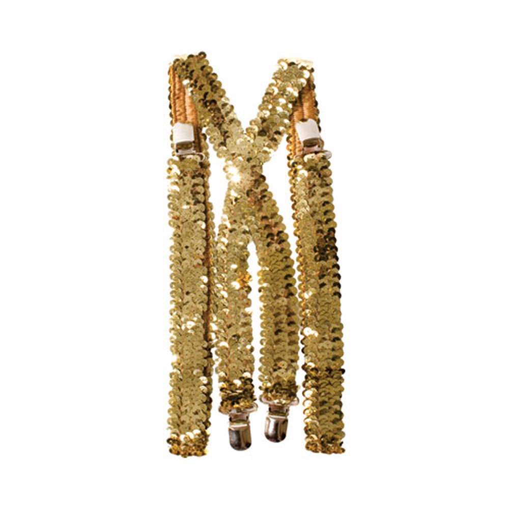 Gold Sequined Suspenders