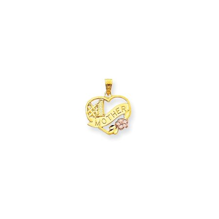 10k Gold Number 1 Mother In Heart Charm