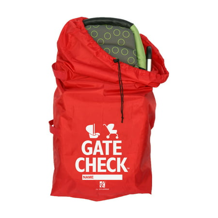 J.L. Childress Universal Gate Check Travel Bag for Car Seats or Strollers, Red Car Seat Carrier Bag