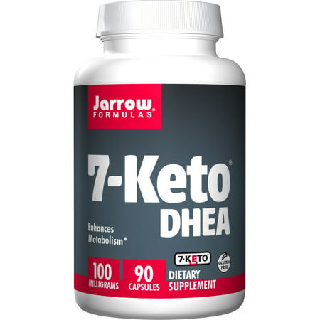 Jarrow Formulas 7-Keto DHEA, Enhances Metabolism, 100 mg, 90 Caps ()