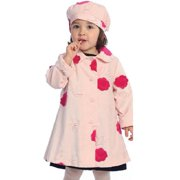 Angels Garment Toddler Girls Size 3T Pink Flower Coat Hat Outwear Set