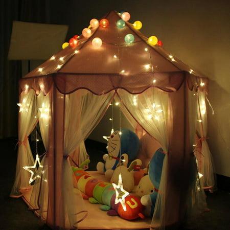 Children Kids Indoor Play Tent Folding Toy Tent Pop Up Girl ...