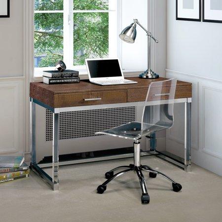 Crocodile Texture Base - Furniture of America Mamel Contemporary 2-drawer Crocodile Textured Acrylic Computer Desk by FOA