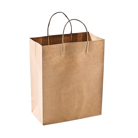 Green Direct Reusable Brown Paper Shopping Bags - Grocery Bags Pack of - Green Paper Bags