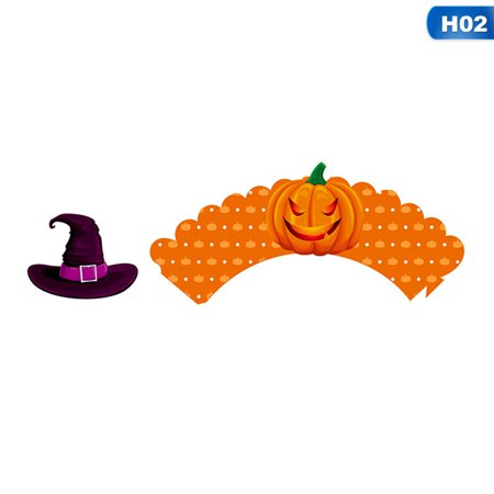 Halloween Laboratory Decorations (TURNTABLE LAB 1 set Halloween Cake Cups Birthday Holiday Decorations Cups + Cards )