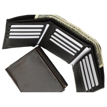 Genuine Leather Multi Credit Card Holder ID Trifold Wallet 553 (C)