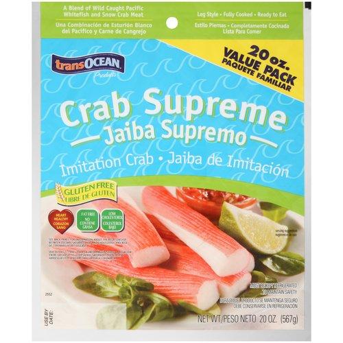 TransOcean Crab Supreme Imitation Crab, 20 oz