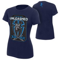 "Official WWE Authentic Roman Reigns ""Big Dog Unleashed"" Women's  T-Shirt Navy Blue Small"