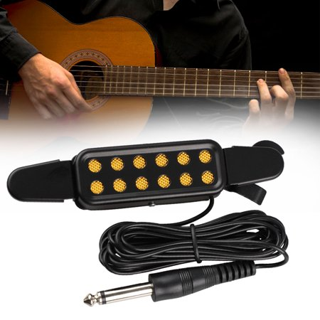 12 soundhole guitar pickup acoustic electric transducer for acoustic guitar magnetic preamp with. Black Bedroom Furniture Sets. Home Design Ideas