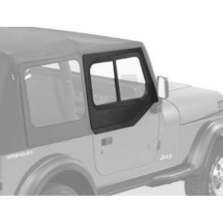Black Jeep Wrangler (Bestop 51785-15 Jeep Wrangler Upper-Door Sliders, Black Denim)