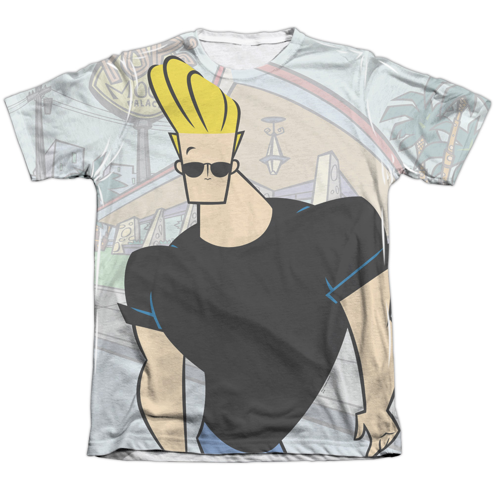 Johnny Bravo Hanging Out (Front Back Print) Mens Sublimation Shirt