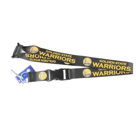 - Golden St Warriors Clip Lanyard Keychain Id Ticket Holder NCAA - Black