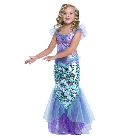 Cute Group Girl Halloween Costumes (Girl Mermaid Small Halloween Dress Up / Role Play)