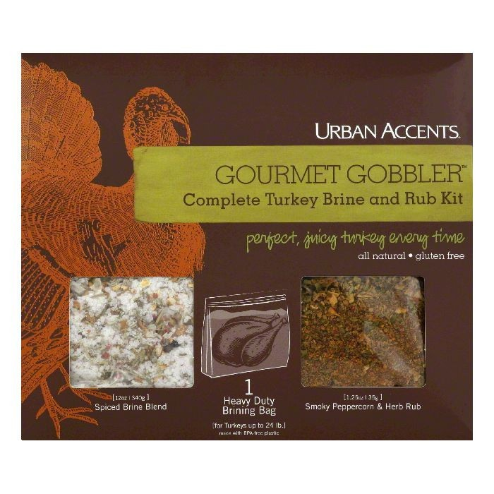 Urban Accents Gourmet Gobbler Complete Turkey Brine and Rub Kit, 12.75 Oz