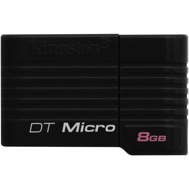 Kingston Digital DT 8GB Micro USB Flash Drive, Black (DTMCK/8 GB)