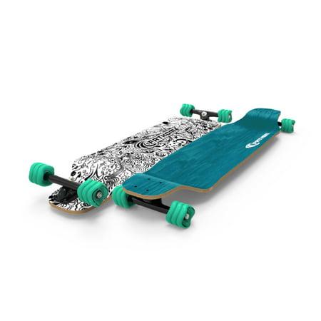 Back To The Future Skateboard (Fathom by Shark Wheel Long Drop Daydreamer Longboard Skateboard Complete,)