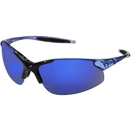 Radians Rad-Infinity Safety Glasses with Blue Frame and Blue Mirror (Best Radians Eye Glasses)
