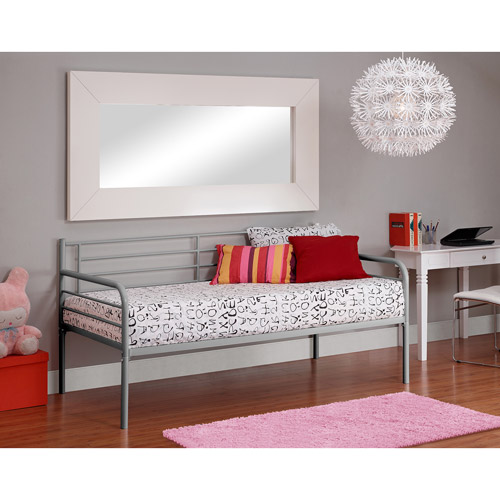 DHP Contemporary Metal Day Bed Frame, Multiple Colors by Generic