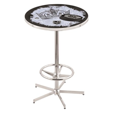 Los Angeles Kings 42 Inch High, 36 Inch Top Chrome L216 Pub Table