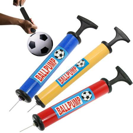 3 Ball Pump Handheld Air Inflator Needle Basketball Soccer Volleyball Balloon